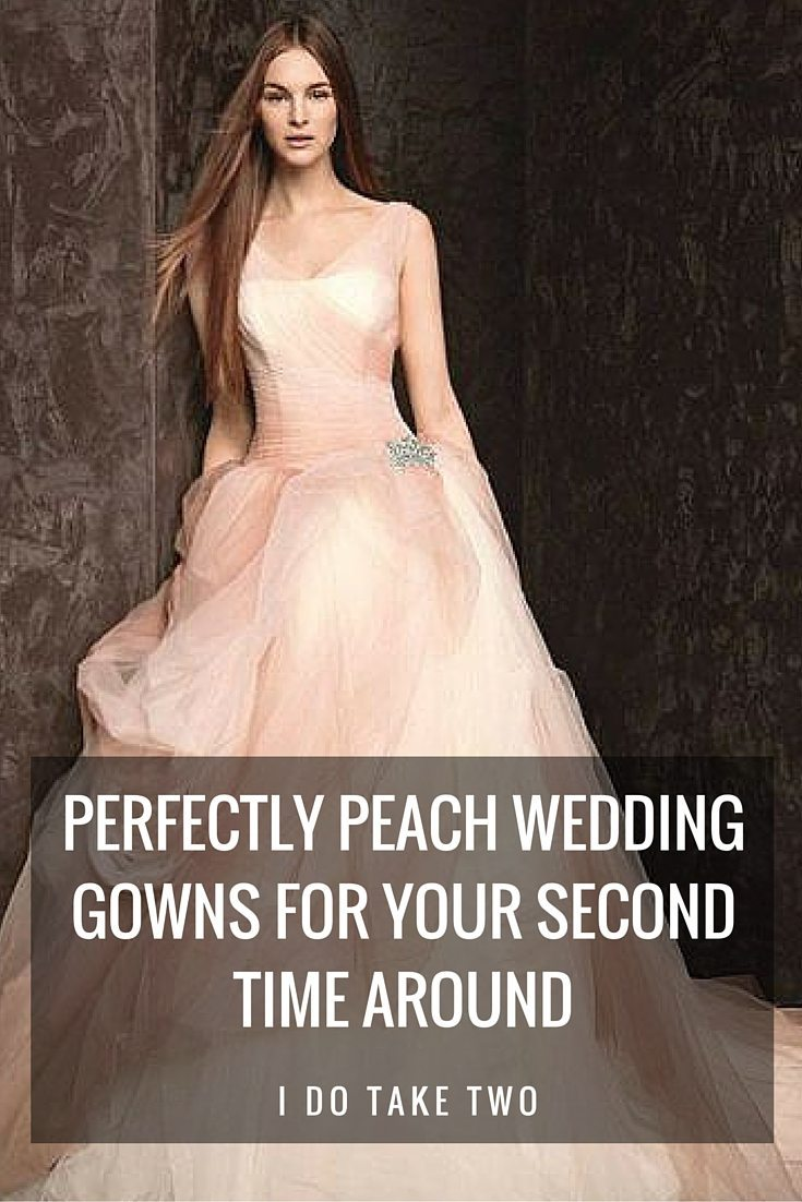PEACH WEDDING GOWNS