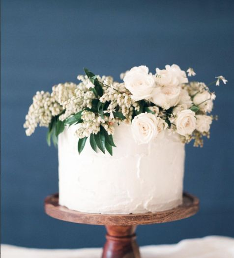 Simple Wedding Cake Designs With Flowers: Simple, Single-Tier White Wedding Cakes: Part 2