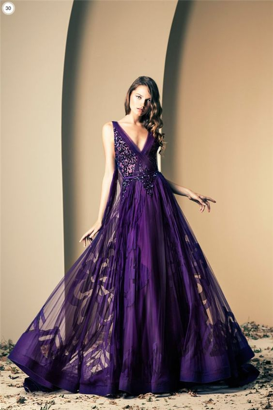 Pretty in Purple Wedding Day Dresses: Part 3 | Wedding Attire ...