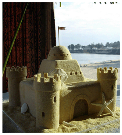 Sandcastle Wedding Cake