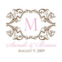 Pink Events Wedding Monogram