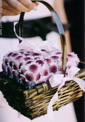 Flower Girl Basket by Water Lily Pond Floral Design