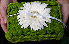 Flower Pillow by Blush Floral Design