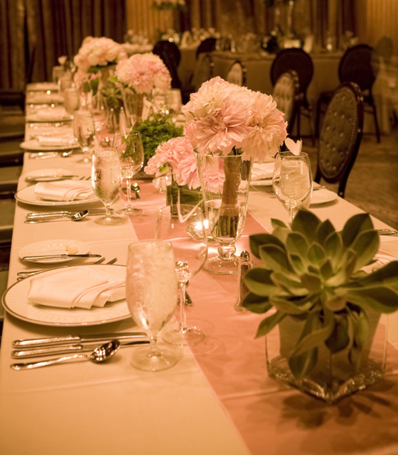 This is solution is perfect for a head table which should be different