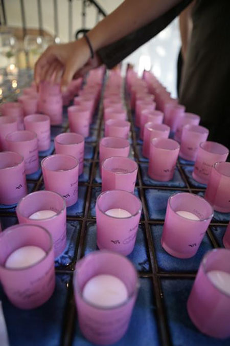Most brides accent their reception tables with votive candles they are