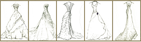Dreamlines Wedding Dress Sketch