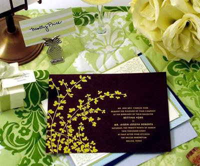 Wedding invitations - AllSheWrote.com