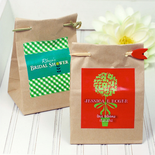 Eco Friendly Seed Wedding Favors PreOwned Wedding Dresses