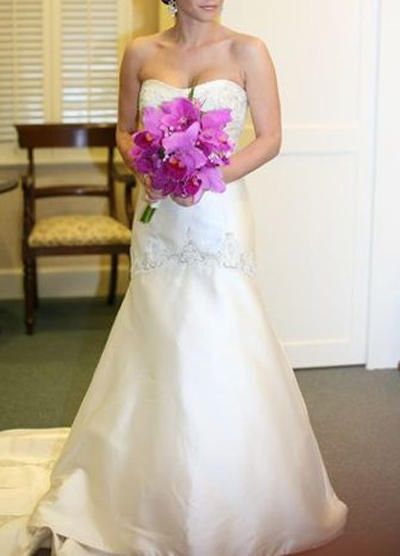 Priscilla of Boston Dropped Waist Wedding Dress