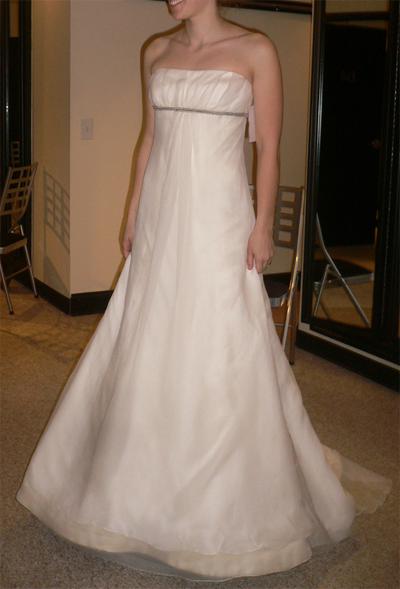 Vera Wang Empire Waist Wedding Dress