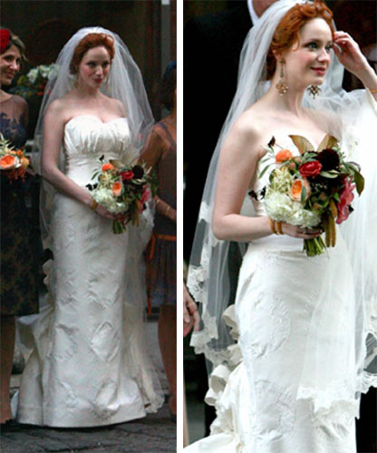 Christina Hendricks Carolina Herrera Wedding Dress