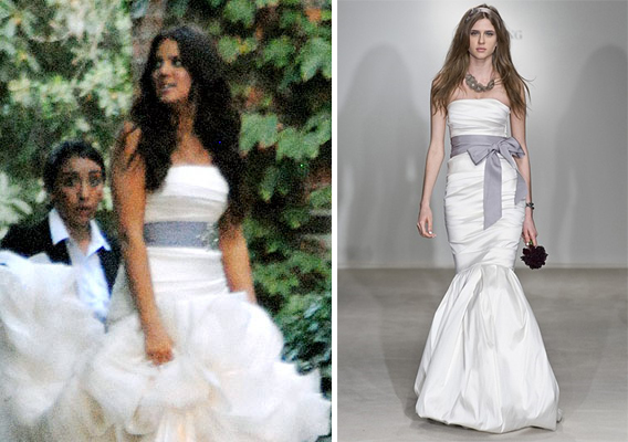 Khloe Kardashian's Vera Wang Wedding Dress