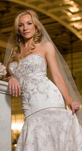 Lazaro Glamorous Wedding Dress