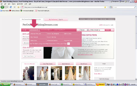 How to Search for a wedding dress on PreOwnedWeddingDresses.com