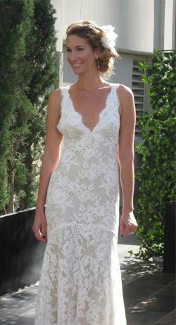 Sheath Silhouette Wedding Dress by Monique Lhuillier
