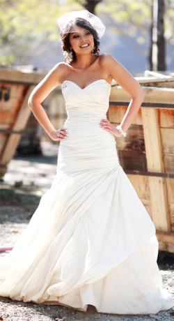 Trumpet Silhouette Wedding Dress by Ines Di Santo