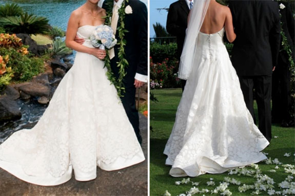 Real wedding natasha robert preowned wedding dresses for Once owned wedding dresses
