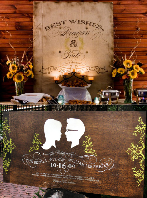 Can wedding decor be casual and upscale at the same time