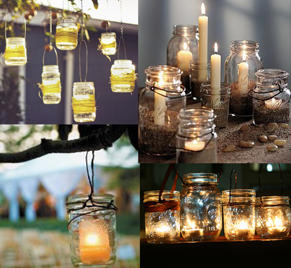 mason jar decor | Principles in Action Wedding Blog