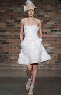 Fun flirty short wedding dresses preowned wedding dresses for Melissa sweet short wedding dress