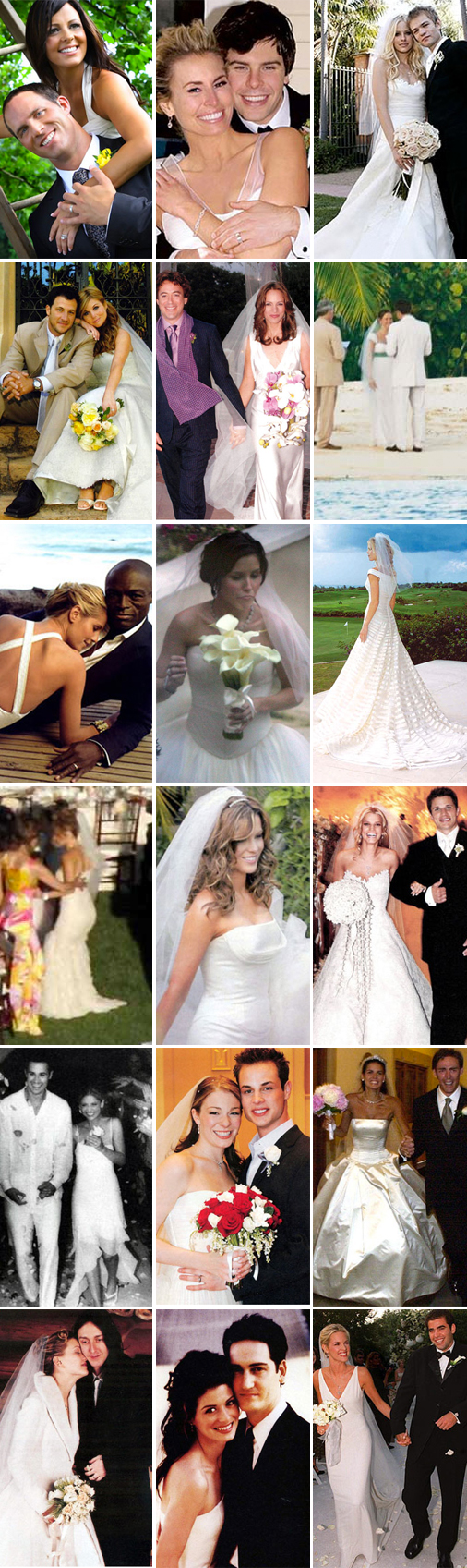 Celebrities who have worn Vera Wang Wedding Dresses