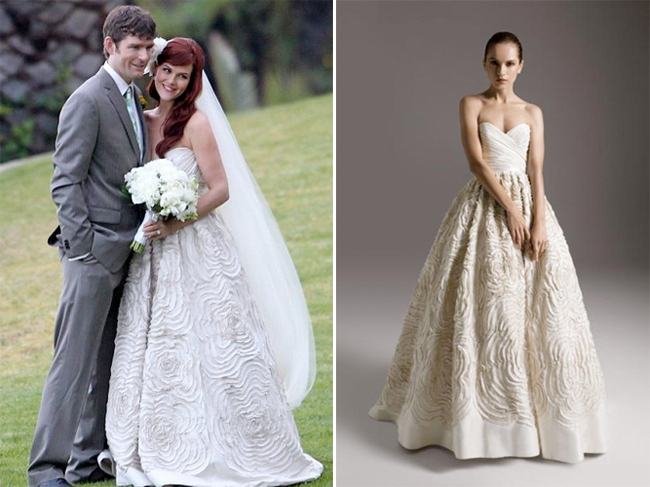 Sara Rue\'s Amsale Wedding Dress | PreOwned Wedding Dresses