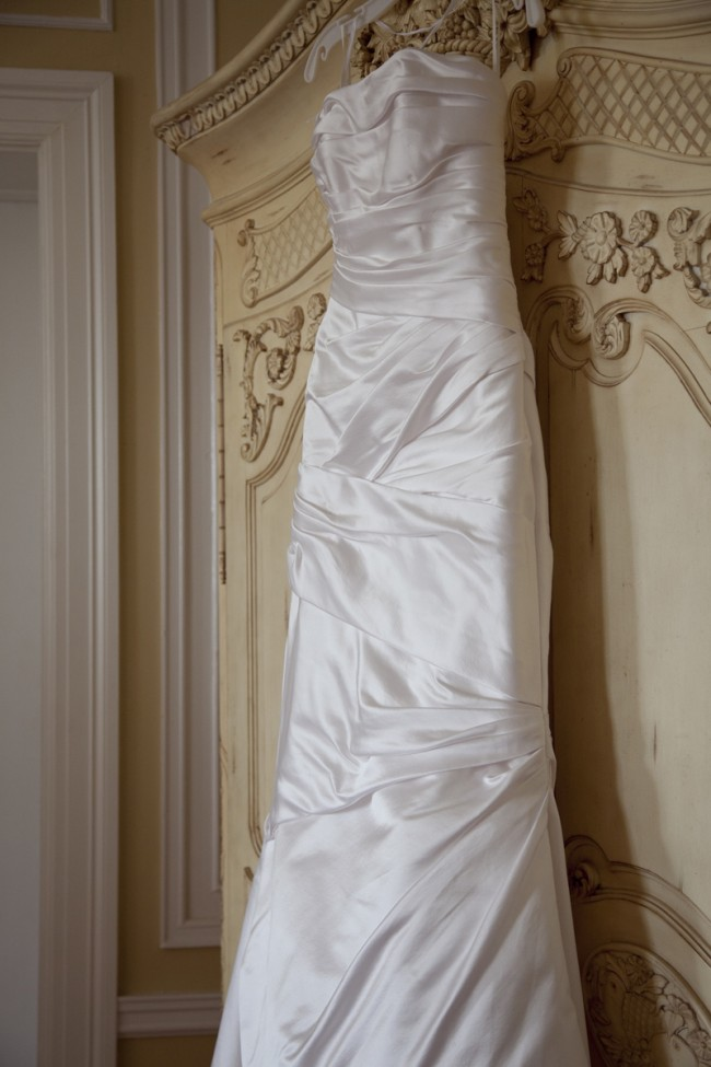 The dress on a hanger preowned wedding dresses for Hangers for wedding dresses