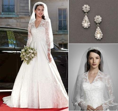 Gallery For > Kate Middleton Wedding Dress Replica Davids Bridal
