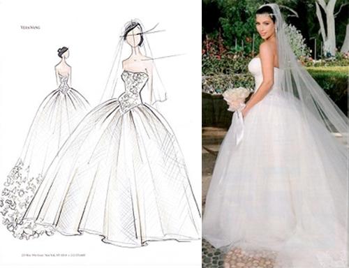 Vera wang chantilly lace wedding dress