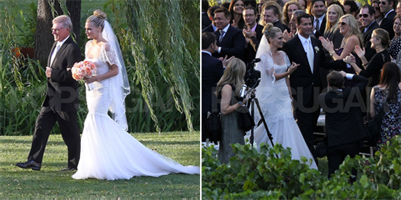 Molly Sims 39 Marchesa Wedding Dress October 3rd 2011 Molly Sims and Scott