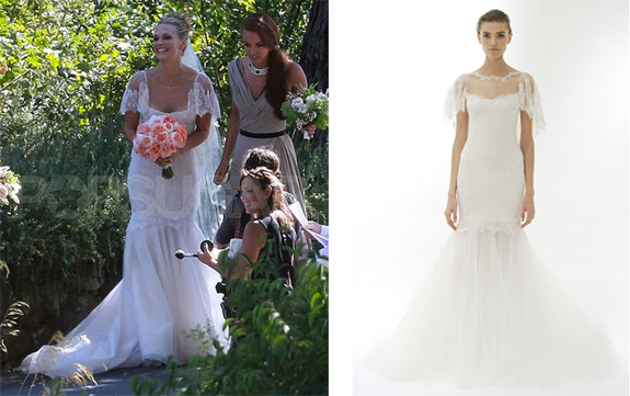 Molly Sims 39 Marchesa Wedding Dress