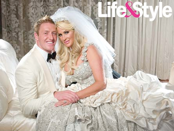 Kim zolciak in her wedding dress from for Kim zolciak wedding dress