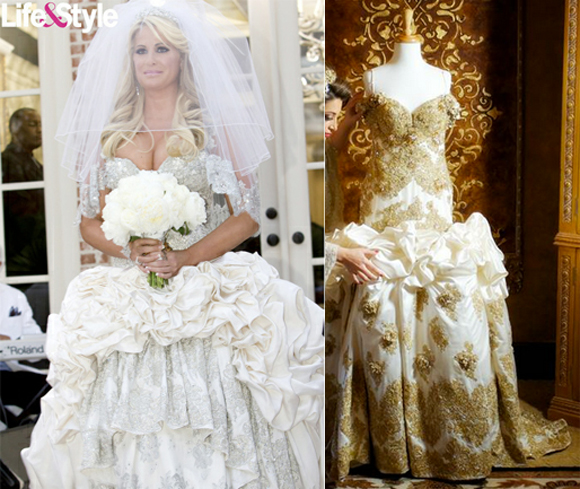 Kim Zolciak Wedding Dress Celebrity Wedding Dresses At A Fraction Of The Cost