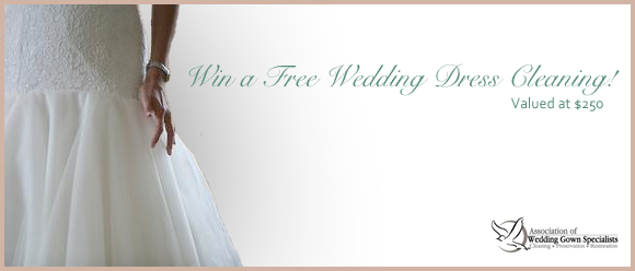 Win A Free Wedding Dress Cleaning Preowned Wedding Dresses