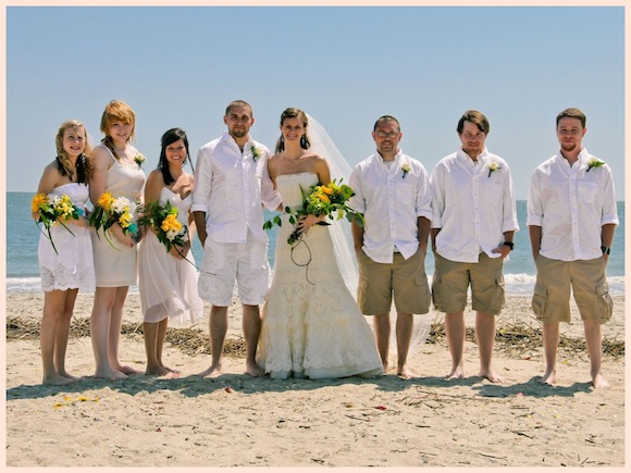 Real wedding taylor duston preowned wedding dresses for Wedding dress for beach ceremony