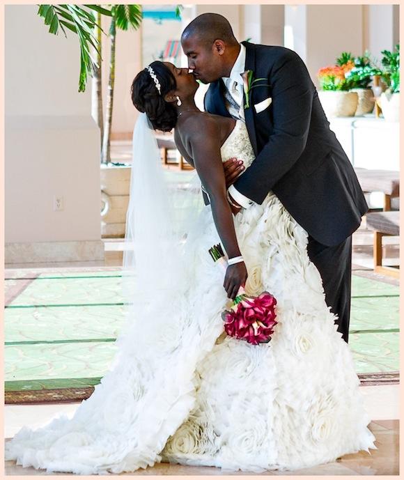 O Shomari Kenh Pool Wedding From Bryan Glen Preowned Traditional Jamaican Dresses