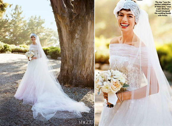 Top 5 celebrity wedding dresses of 2012 preowned wedding dresses images via vogue junglespirit Gallery