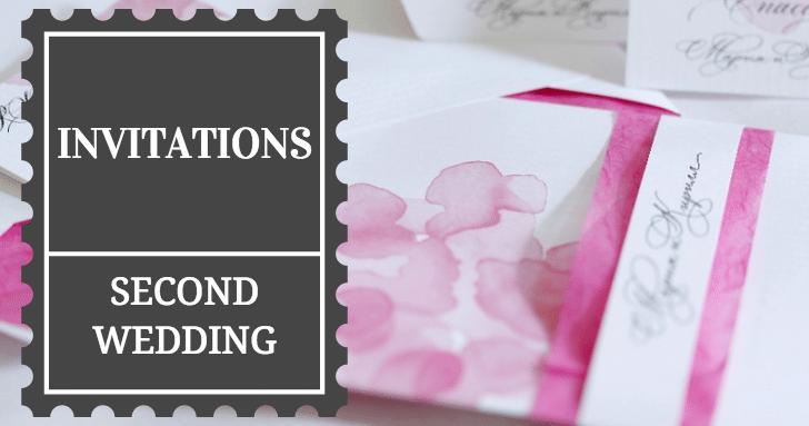 second wedding invitation etiquette
