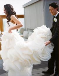 Vera Wang Ghillian, Real Wedding