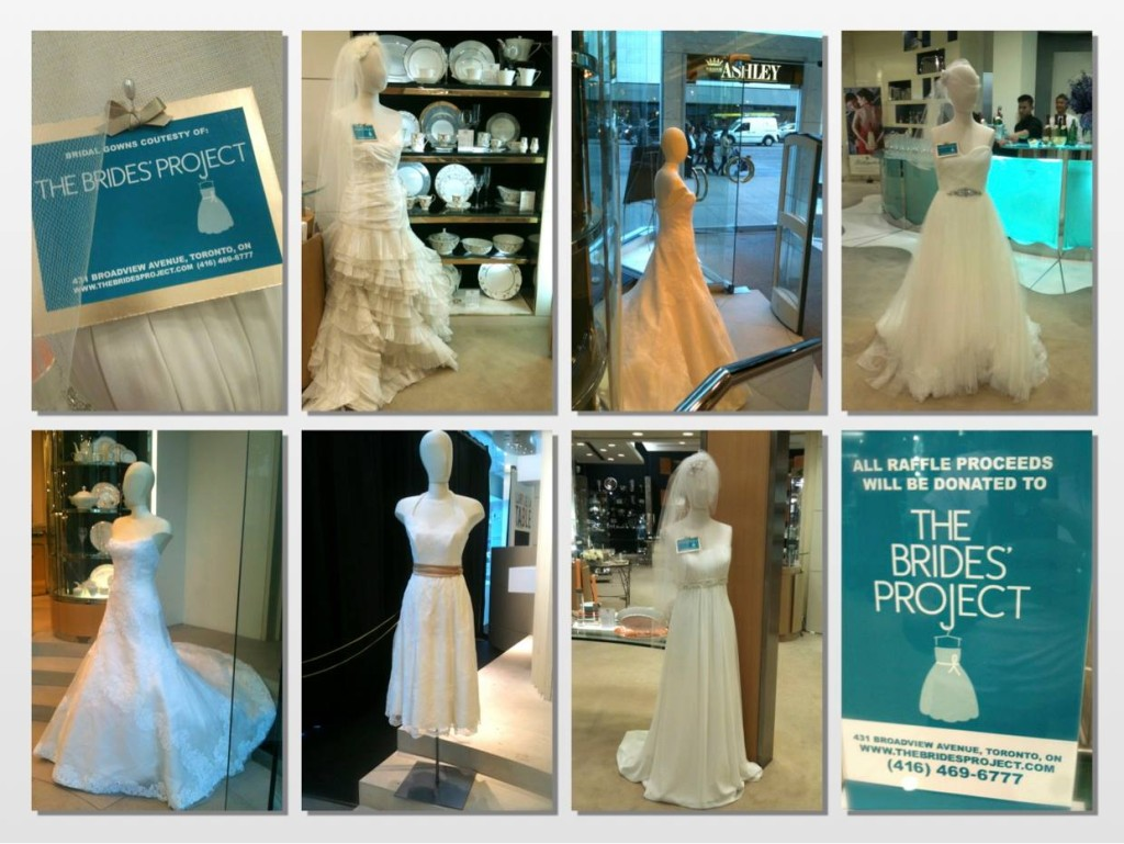 Dresses from The Brides' Project displayed at the William Ashley Bridal Registry Event {via The Brides's Project Toronto Facebook Page}
