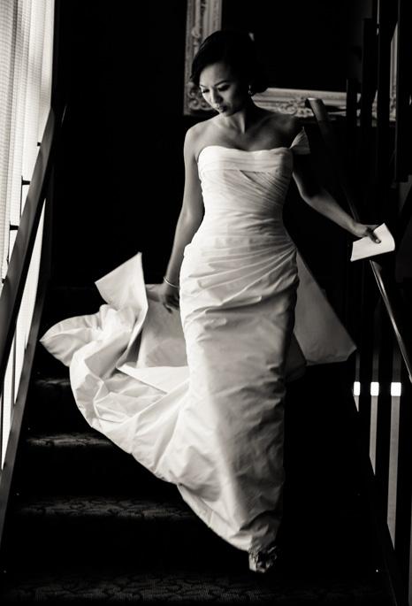 Lin + Daniel | PreOwnedWeddingDresses.com | Romona Keveza Wedding by Sarah Esther