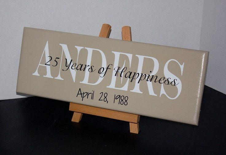 ideas for 25th wedding anniversary