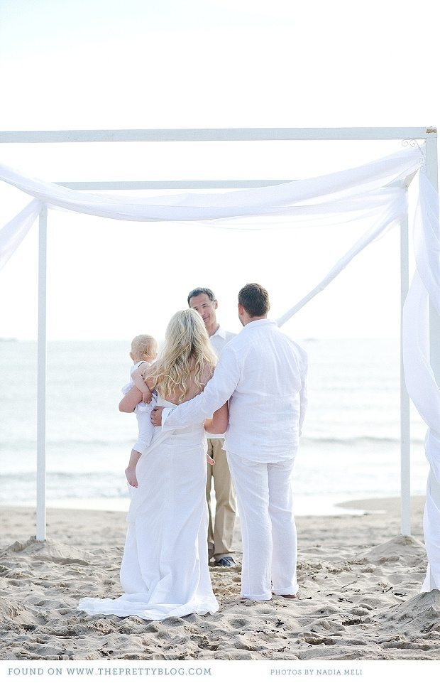 vow renewal on the beach