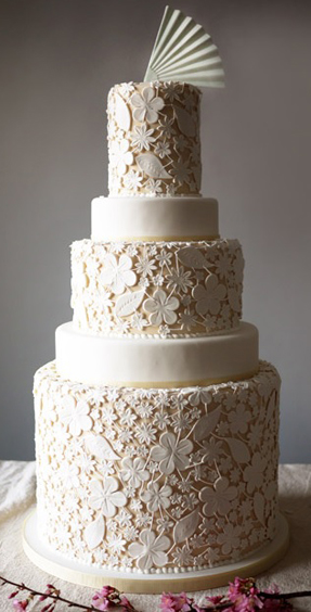 Wedding Cakes that Replicate Wedding Dresses | PreOwnedWeddingDresses.com