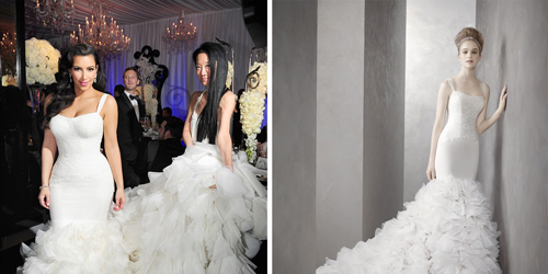 Kim Kardashian Vera Wang Reception Dress