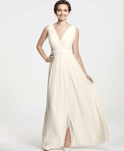 Ann taylor collection perfect for second wedding dresses for Wedding dresses ann taylor