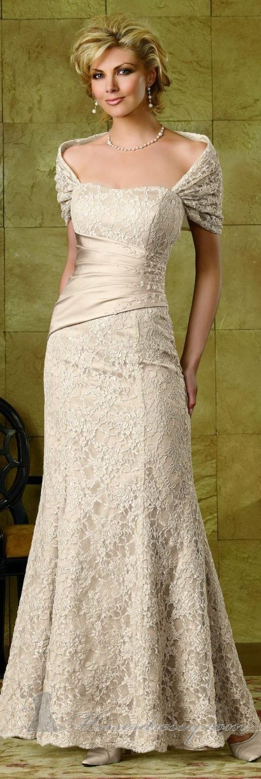 Wedding dresses older brides for Mature women wedding dress