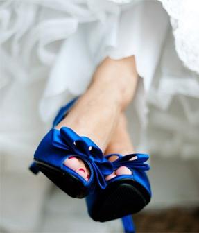 Something Blue - Blue Wedding Shoes
