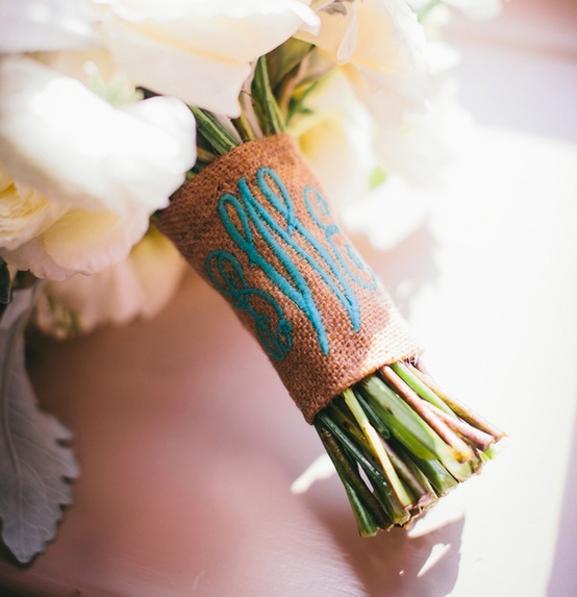 Something Blue  - wedding bouquet