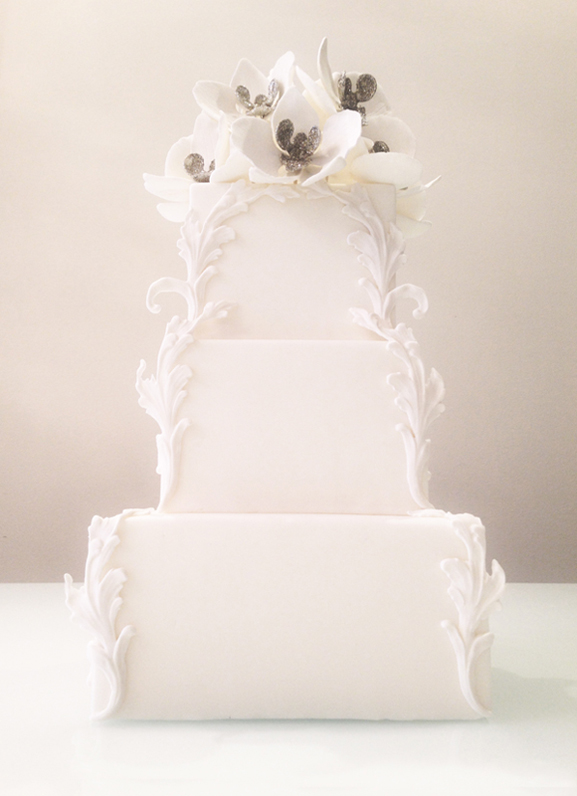 Luxury Wedding Cake by Connie Cupcake